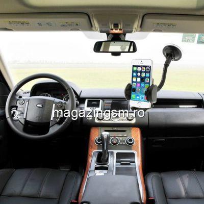 Suport auto 2 in 1 Universal Samsung iPhone Nokia LG BlackBerry, 47-100 mm Negru