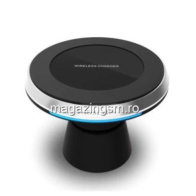 Incarcator Wireless Suport Auto iPhone 8/8 Plus/Samsung S8/ S8 Plus Negru
