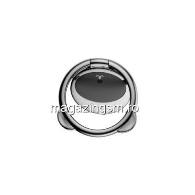 Suport Telefon iPhone Samsung Huawei Allview Stand Finger Grip Inel Magnetic Urs Negru