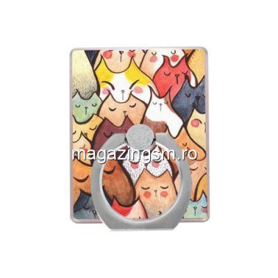 Suport Telefon iPhone 8 Plus Stand Finger Grip Colorat Cartoon