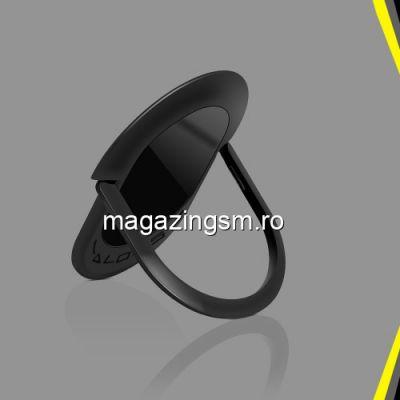 Suport Telefon iPhone Samsung Huawei Nokia Stand Finger Grip Rotativ Inel Negru