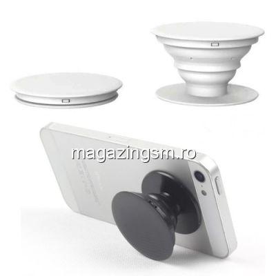 Suport Telefon iPhone Samsung Nokia HTC Stand Cablu Grip Alb