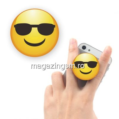 Suport Telefon iPhone Samsung Nokia HTC Stand Finger Grip Fata Zambitoare Cu Ochelari Universal