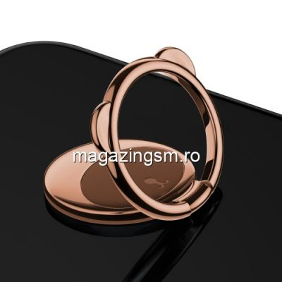 Suport Telefon iPhone XS Stand Finger Grip Inel Magnetic Urs Maro