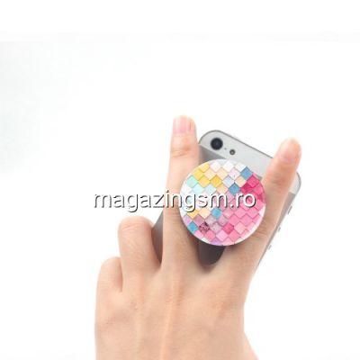 Suport Telefon iPhone Samsung Nokia HTC Stand Finger Grip Universal Colorat