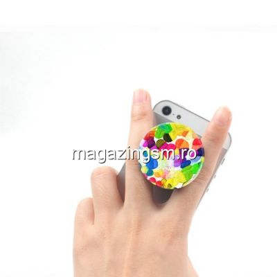 Suport Telefon iPhone Samsung Nokia HTC Stand Finger Grip Universal Multicolor