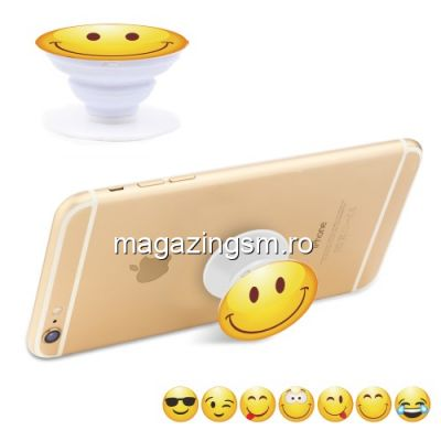 Suport Telefon iPhone Samsung Nokia HTC Stand Finger Grip Universal Smiling Face