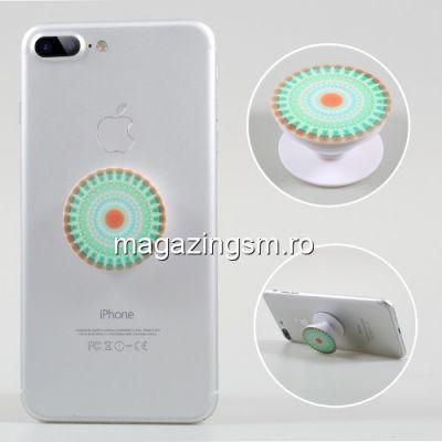 Suport Telefon iPhone Samsung Nokia HTC Stand Finger Grip Universal Verde