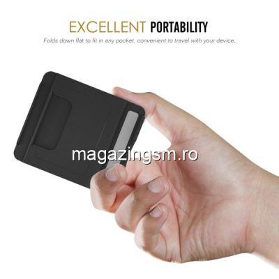 Suport Telefon Tip Stand Portabil iPhone Samsung Negru